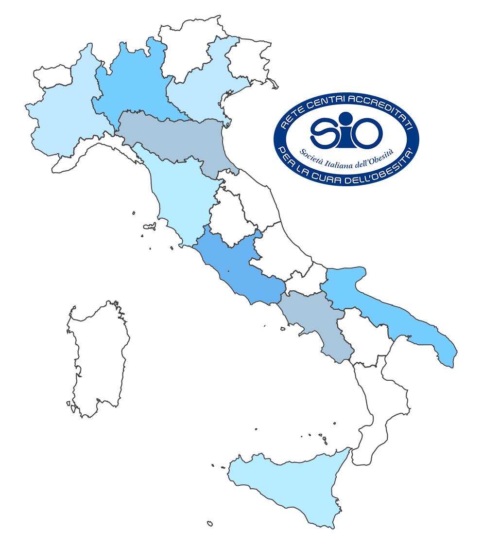 Centri Accreditati SIO Italia Mappa