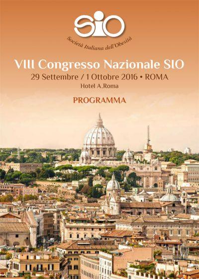 Programma VIII Congresso Nazionale SIO - Roma-29 settembre / 1 ottobre 2016